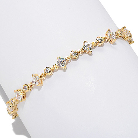 126-715 - TYCOON Square & Round Cut Simulated Diamond Link Bracelet