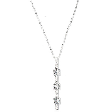 126-719 - TYCOON Platinum Embraced™ 2.35 DEW Simulated Diamond Station Line Drop Pendant