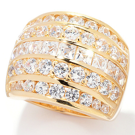 126-722 - TYCOON for Brilliante® Platinum Embraced™ 3.64 DEW Five-Row Pave Set Ring