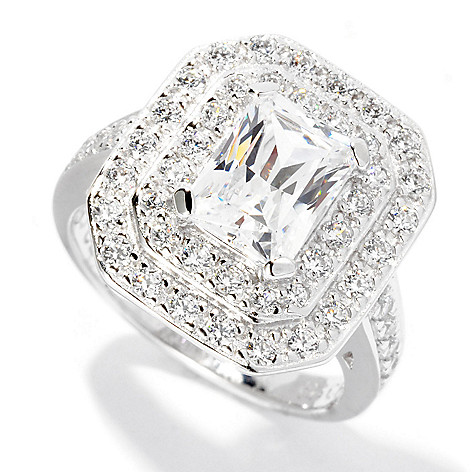 126-751 - Brilliante® Platinum Embraced™ 2.42 DEW Simulated Diamond Double Halo Ring