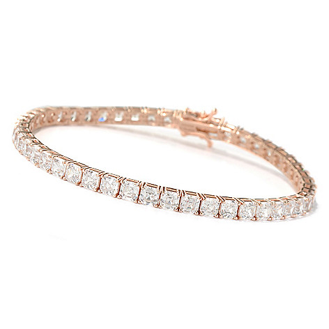 126-772 - Brilliante® Asscher Cut Polished Simulated Diamond Tennis Bracelet