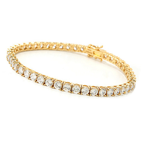 126-774 - Brilliante® 100-Facet Polished Round Cut Simulated Diamond Tennis Bracelet