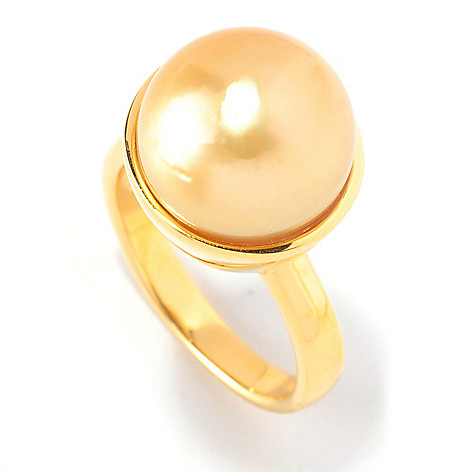 126-806 - 12-13mm Golden South Sea Cultured Pearl Ring