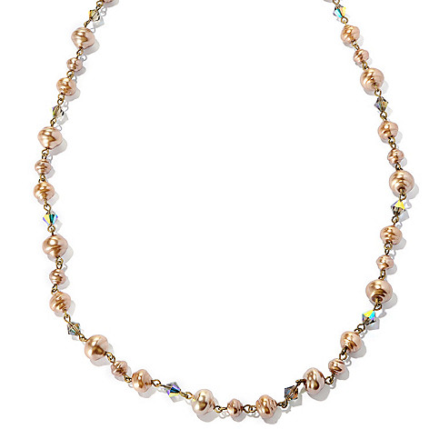 126-880 - Sweet Romance™ 51'' Glass & Crystal Baroque-Inspired Necklace