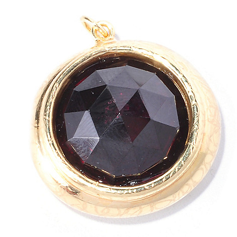 126-929 - Italian Designs with Stefano 14K ''Oro Vita'' Electroform 15mm Garnet Pendant