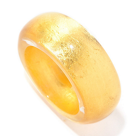 126-938 - Italian Designs with Stefano 24K ''Oro Puro'' Gold Foil Band Ring