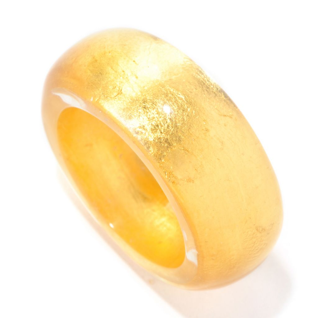"126-938 - Italian Designs with Stefano 24K ""Oro Puro"" Gold Foil Band Ring"