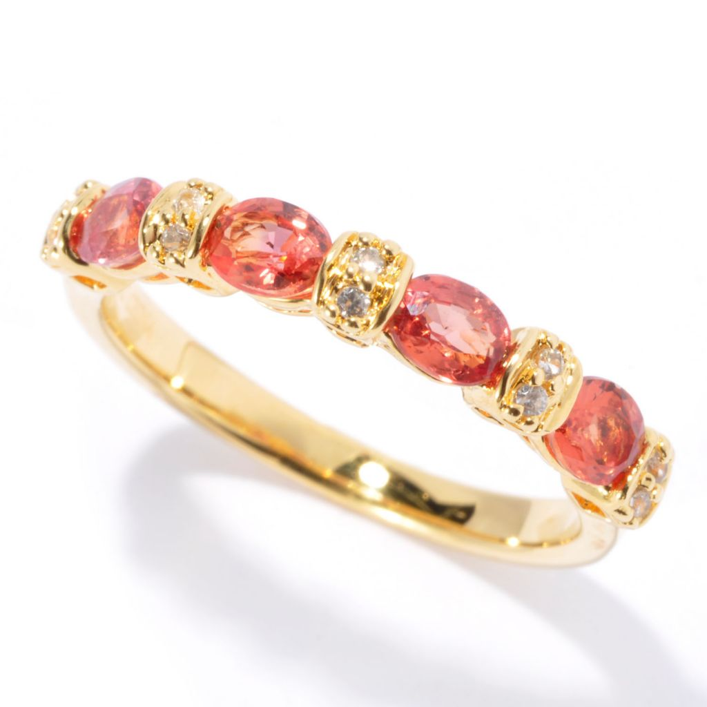 126-975 - NYC II Exotic Gemstone & White Zircon Stack Band Ring