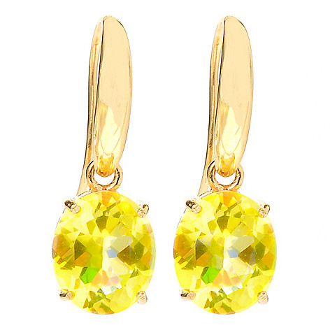 126-977 - NYC II 1'' 7.40ctw Oval Quartz Drop Earrings