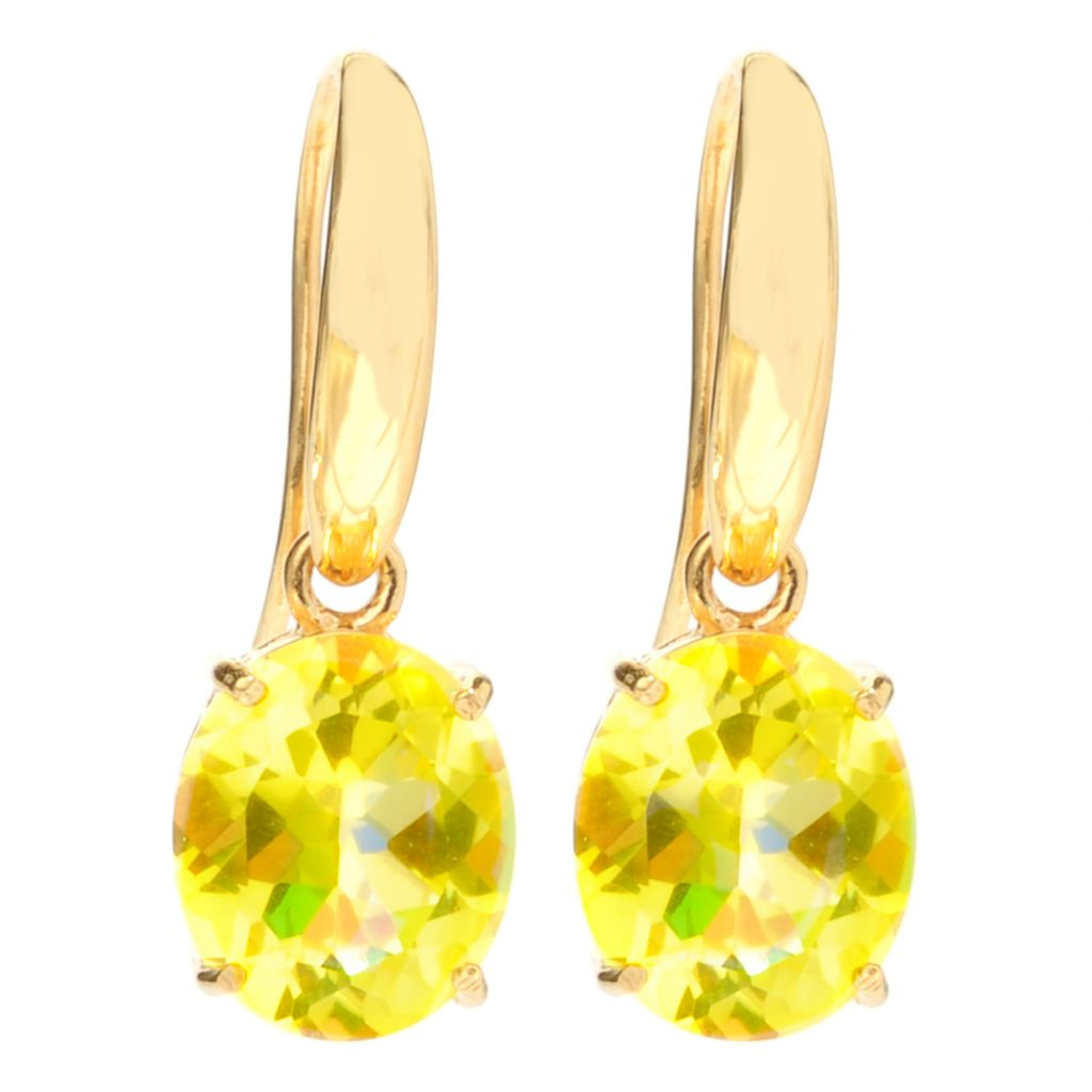 "126-977 - NYC II 1"" 7.40ctw Oval Quartz Drop Earrings"