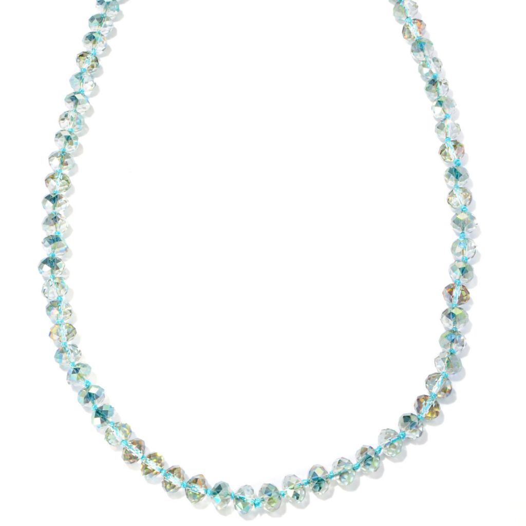 "127-098 - Sweet Romance™ 58"" Glass Bead ""Waterfall"" Necklace"