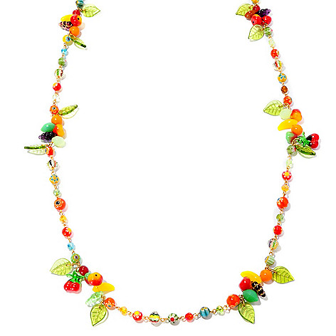 127-099 - Sweet Romance™ 52'' 1940s Inspired ''Fruit Salad'' Station Necklace