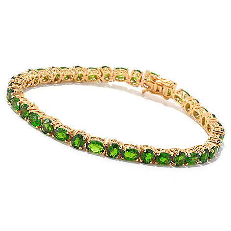 127-161 - NYC II™ 11.84ctw Chrome Diopside Alternating Tennis Bracelet