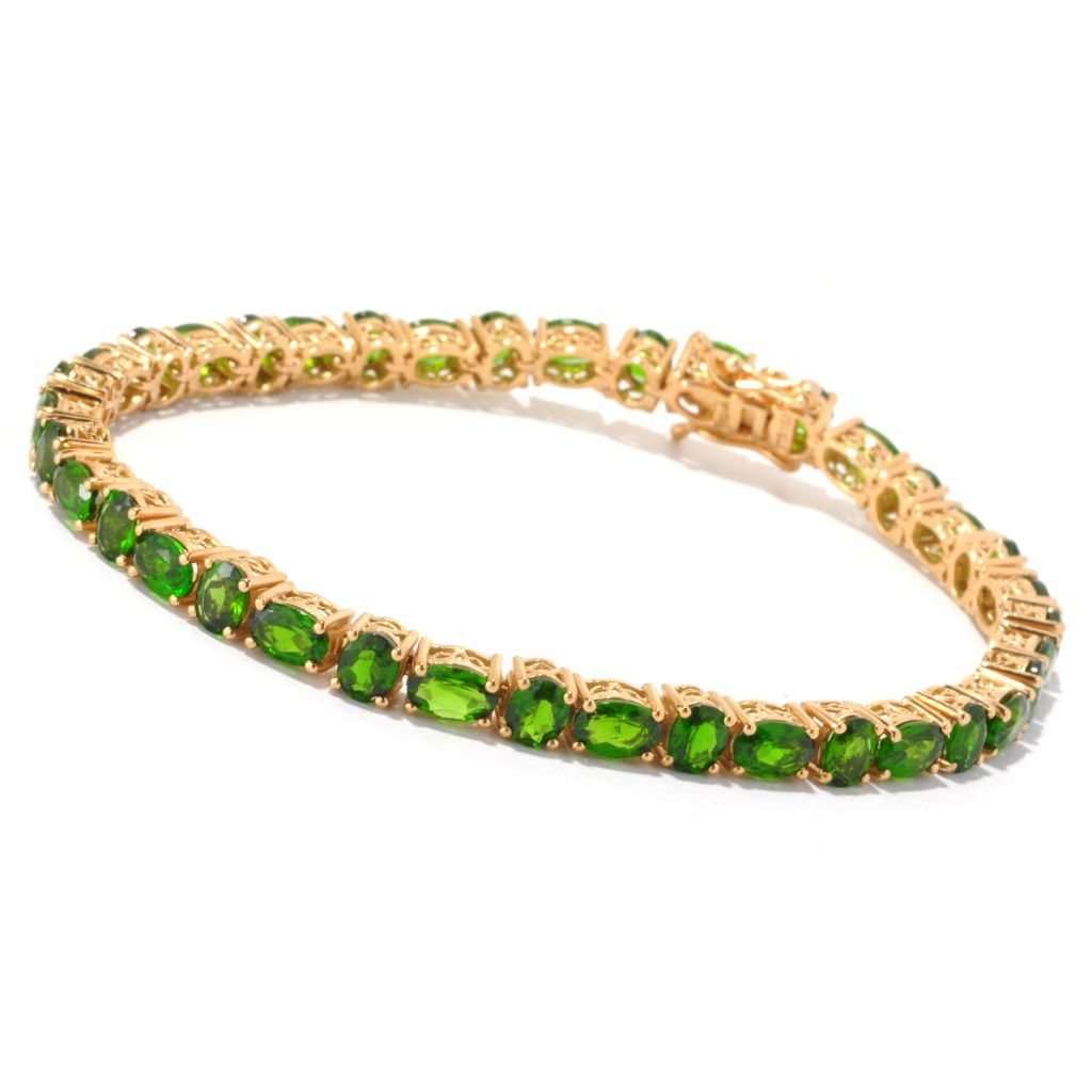 127-161 - NYC II Chrome Diopside Alternating Tennis Bracelet