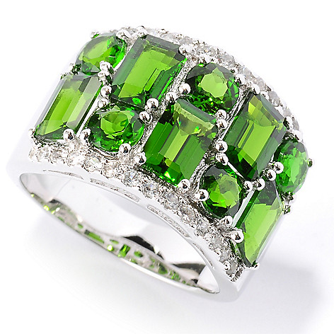 127-162 - NYC II 4.76ctw Chrome Diopside & White Zircon Band Ring