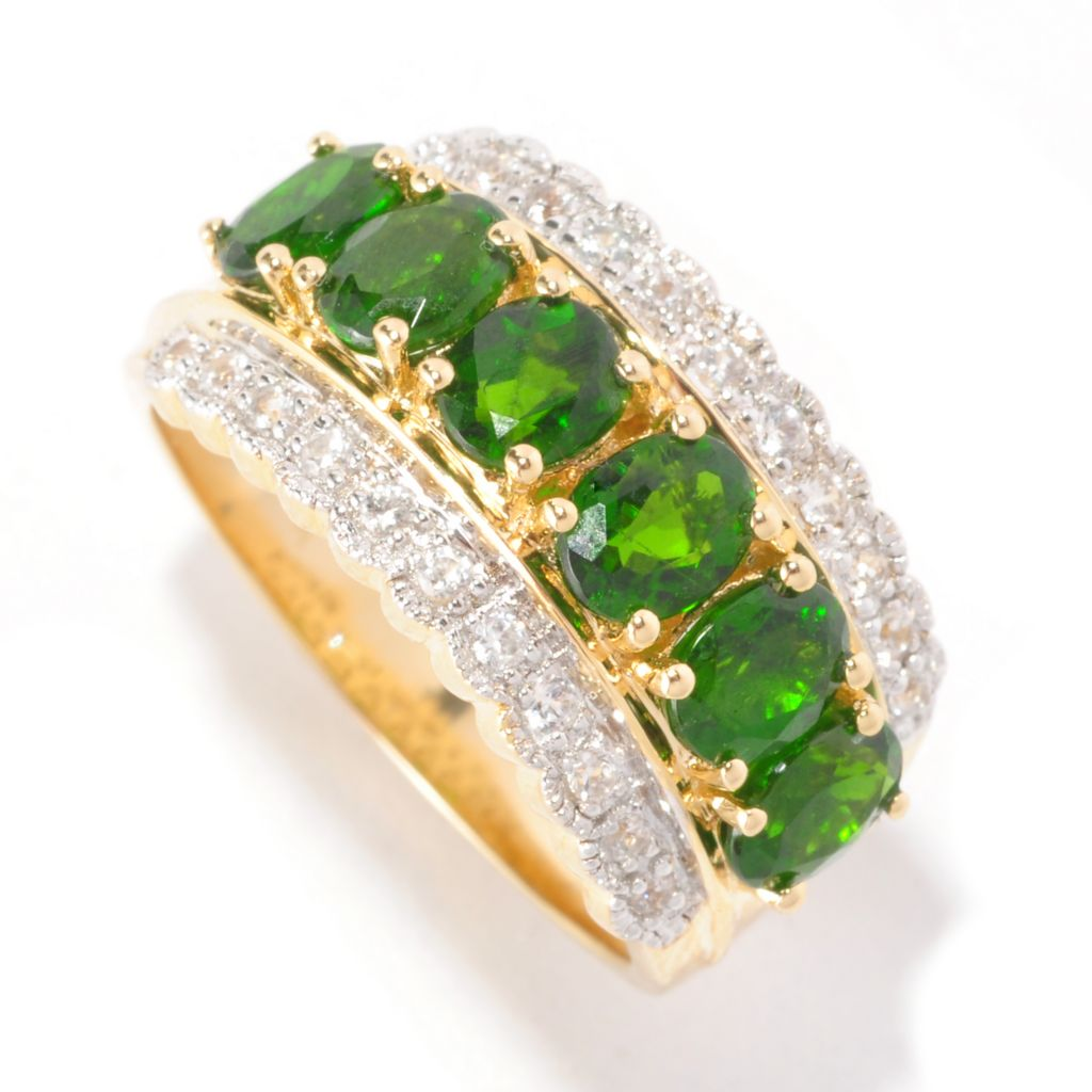 127-163 - NYC II 2.82ctw Chrome Diopside & White Zircon Band Ring