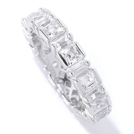 127-257 - TYCOON Platinum Embraced™ 3.14 DEW Polished Simulated Diamond Eternity Band Ring