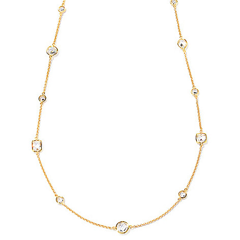 127-424 - Sonia Bitton 36'' 15.06 DEW Multi-Shape Simulated Diamond Necklace