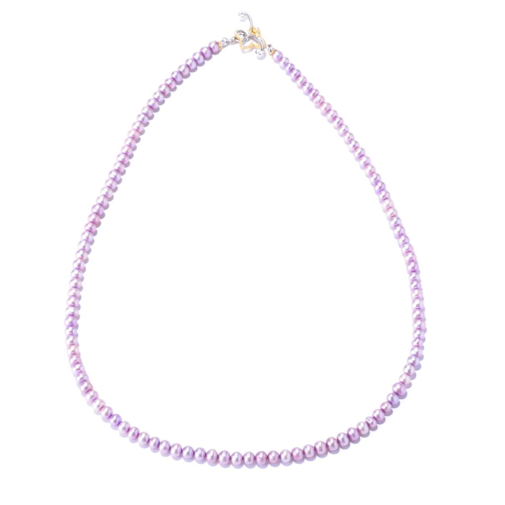 "127-431 - Gems en Vogue II 20"" 4mm Cultured Pearl Toggle Necklace"