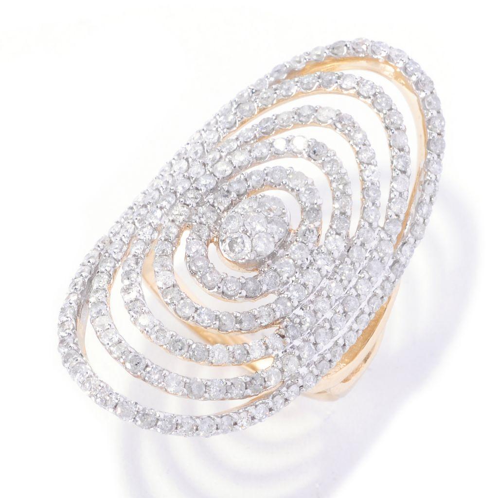 127-592 - Beverly Hills Elegance 14K Gold 2.00ctw Multi Oval Wide Diamond Ring