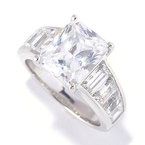 127-624 - Brilliante® Platinum Embraced™ 6.56 DEW Simulated Diamond ''Angelina'' Ring