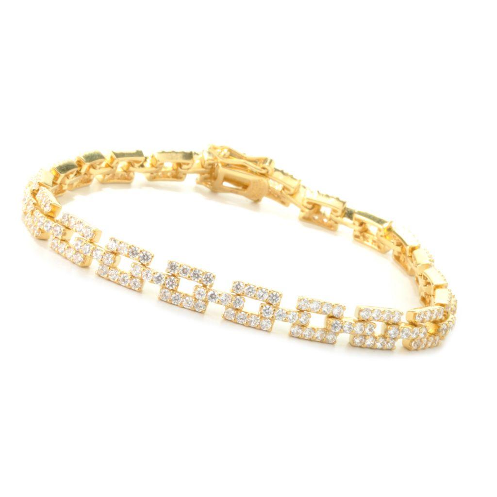 127-650 - Brilliante® Round Simulated Diamond Square Link Bracelet