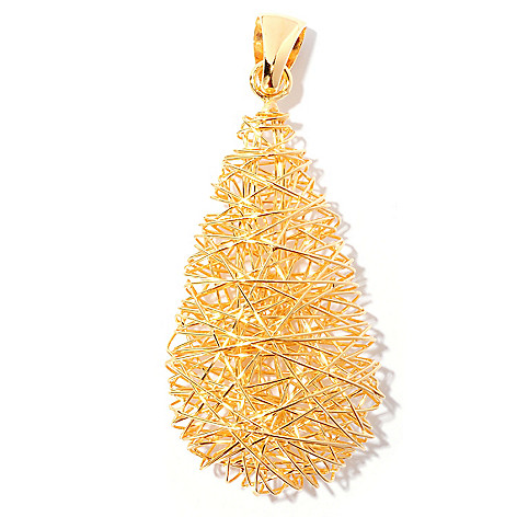 127-764 - Portofino Gold Embraced™ Wire Wrapped Teardrop Pendant