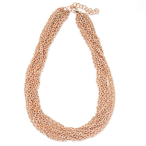 127-826 - Milano Luxe Gold Embraced™ 18'' Multi Strand Diamond-Cut Necklace