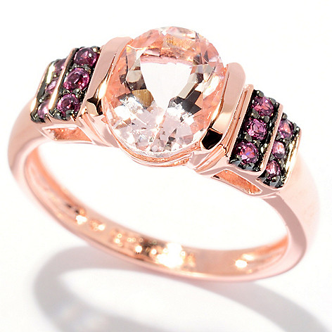 127-856 - NYC II 1.87ctw Morganite & Rhodolite Ring