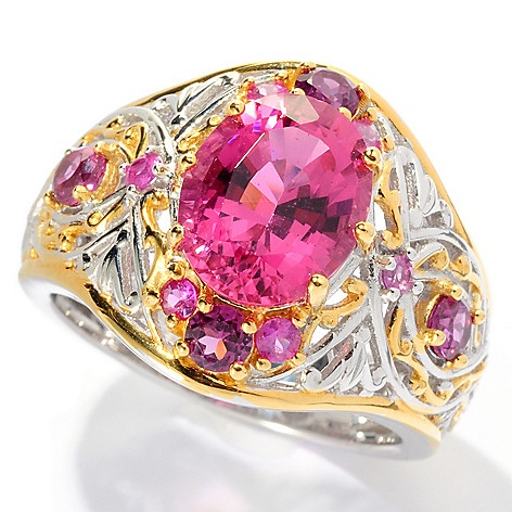 127-922 - The Vault from Gems en Vogue II 3.49ctw Pink Tourmaline & Multi Gem Ring
