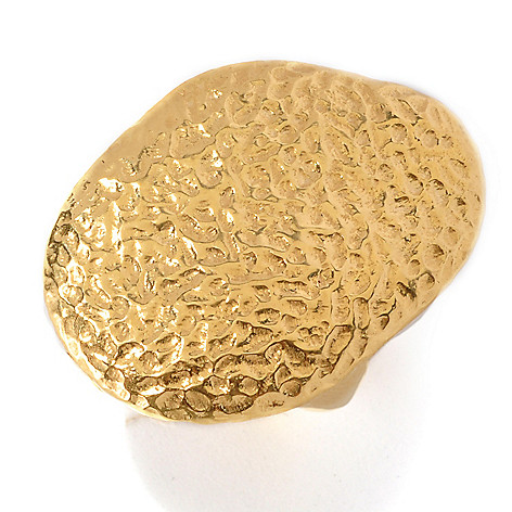 128-074 - Toscana Italiana Gold Embraced™ Hammered Freeform Ring