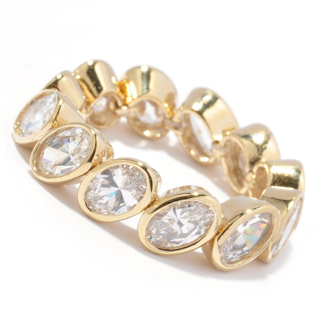 128-205 - Sonia Bitton 5.16 DEW Oval Cut Simulated Diamond Dream Fit™ Eternity Ring