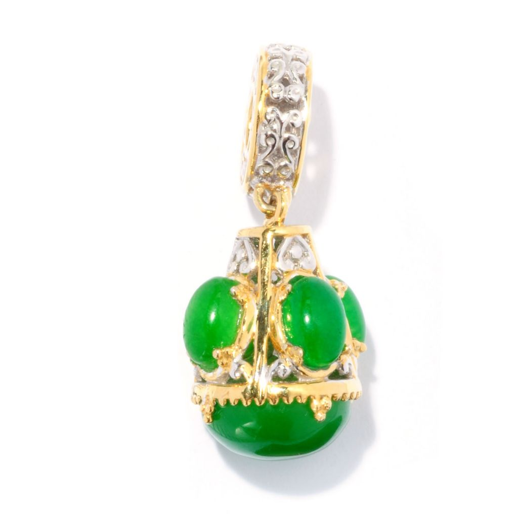 128-241 - Gems en Vogue 10mm Green Quartz Dangling Drop Charm