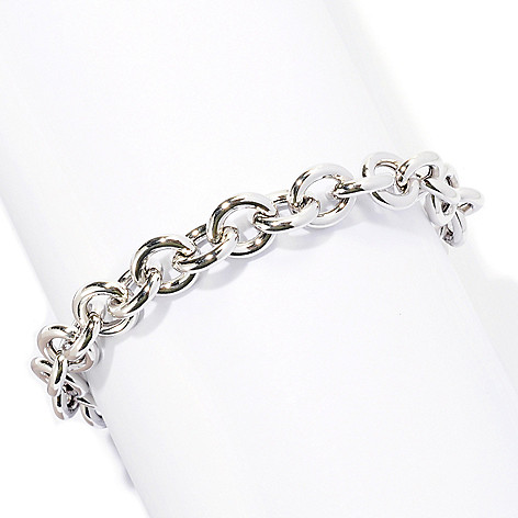 128-268 - Palatino™ Platinum Embraced™ 8'' Polished Rolo Toggle Bracelet
