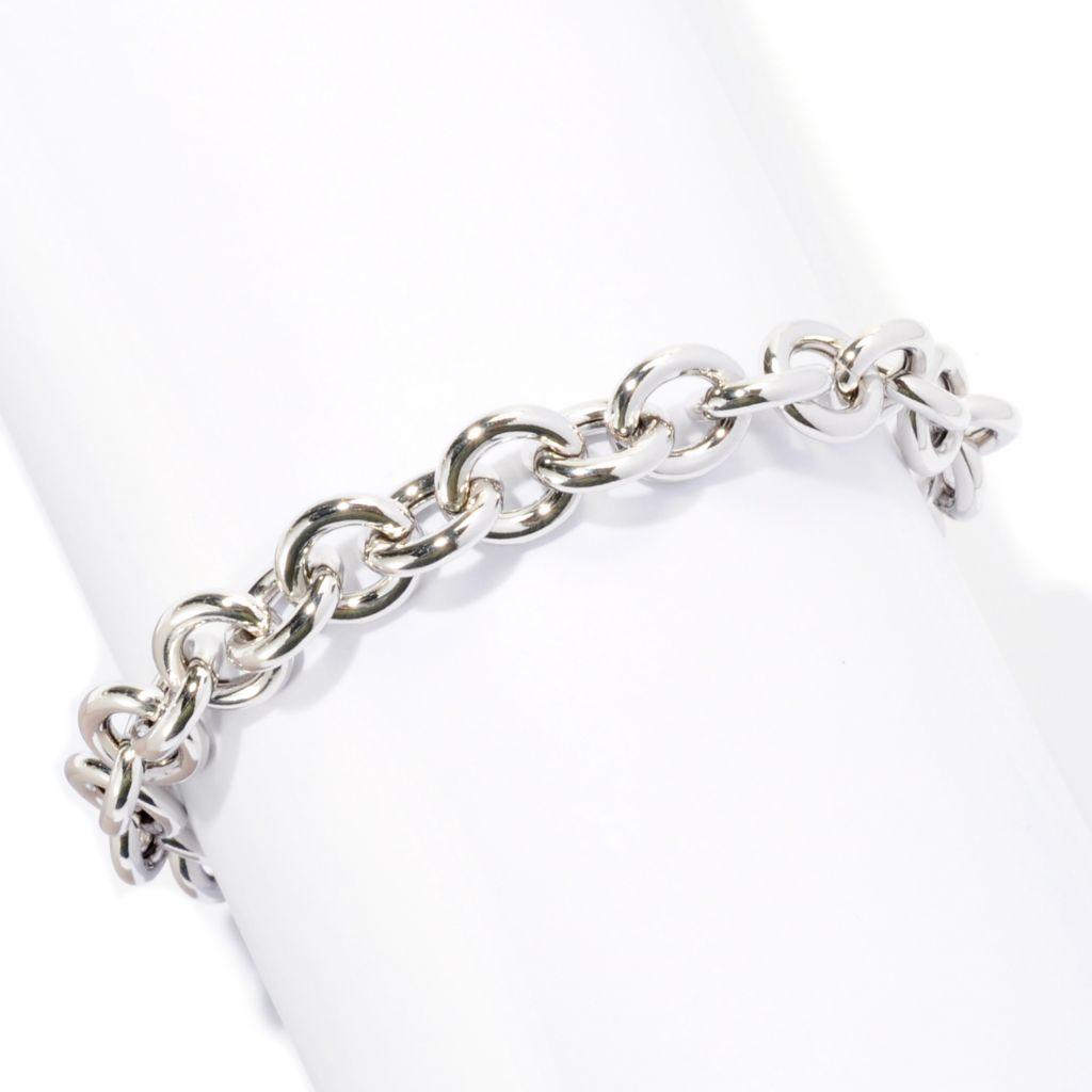 """128-268 - Palatino™ Platinum Embraced™ 8"""" Polished Rolo Toggle Bracelet"""