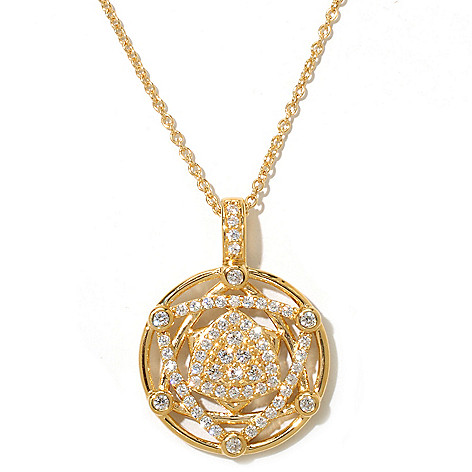 128-313 - Sonia Bitton Gold Embraced™ 1.04 DEW Simulated Diamond Star of David Pendant