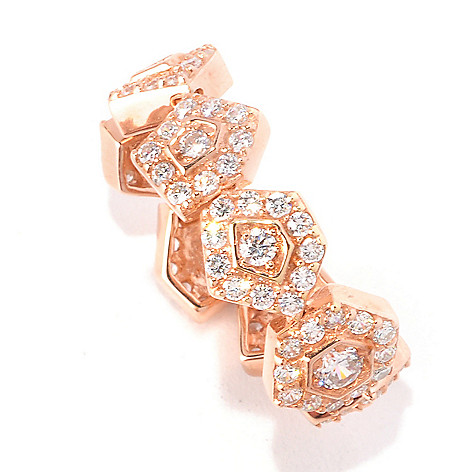 128-319 - Sonia Bitton 1.71 DEW Round Cut Simulated Diamond Abstract Pentagon Dream Fit Ring