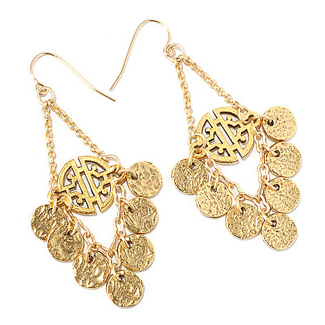 128-337 - mariechavez Cut-out Disk Dangle Earrings