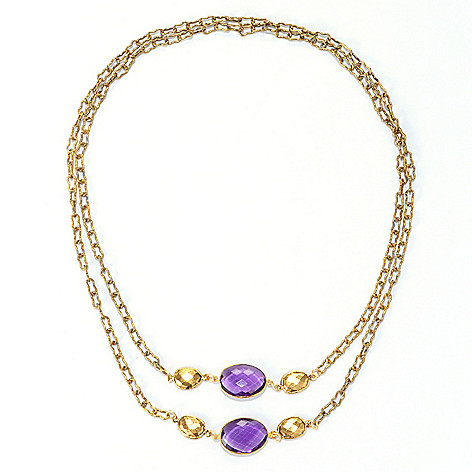 128-344 - mariechavez 40'' Gemstone Station Necklace