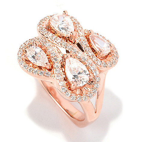 128-359 - Dare to Rare™ by Lucy Gold Embraced™ 1.86 DEW Pave Set Simulated Diamond Swirl Ring