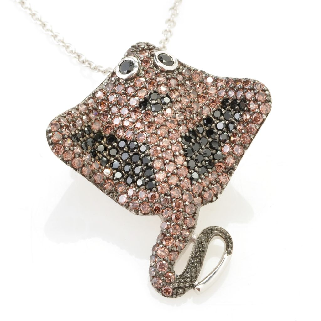 128-382 - Neda Behnam Platinum Embraced™ 3.34 DEW Stingray Simulated Diamond Pin/Pendant