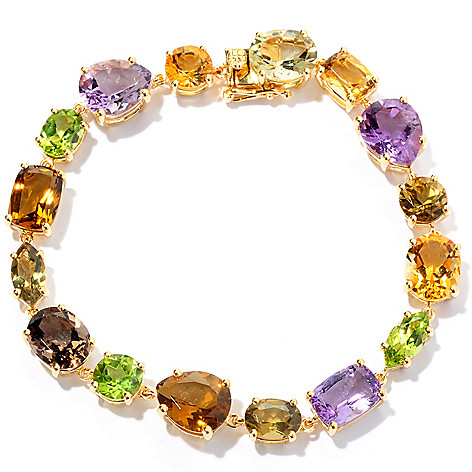 128-447 - NYC II® Multi Gemstone Mixed Shape Tennis Bracelet