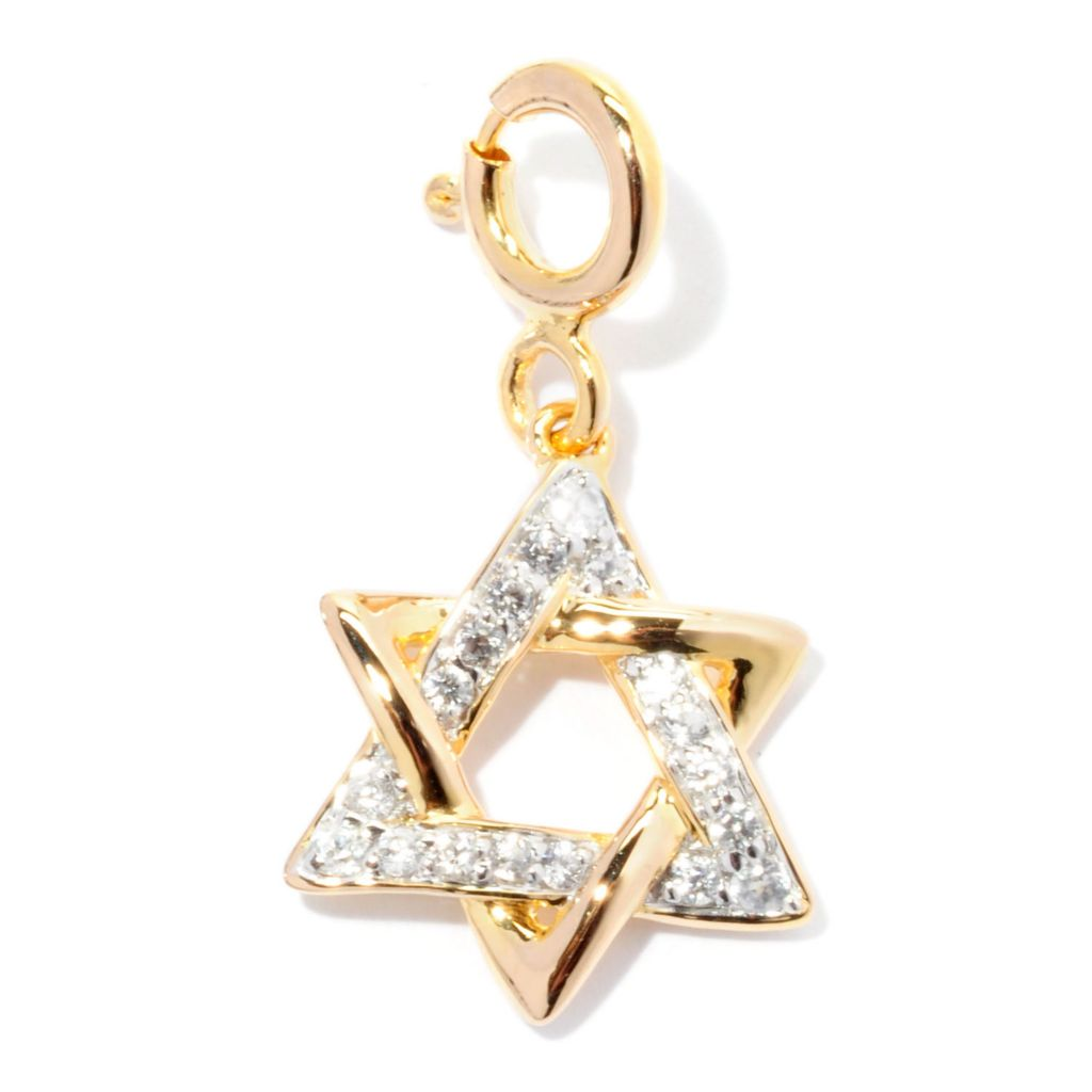 128-449 - NYC II White Zircon Star of David Drop Charm