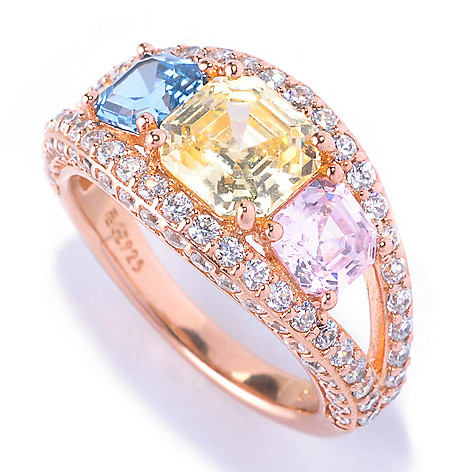 128-507 - Dare to Rare™ by Lucy Gold Embraced™ 4.30 DEW Simulated Diamond Three-Stone Ring