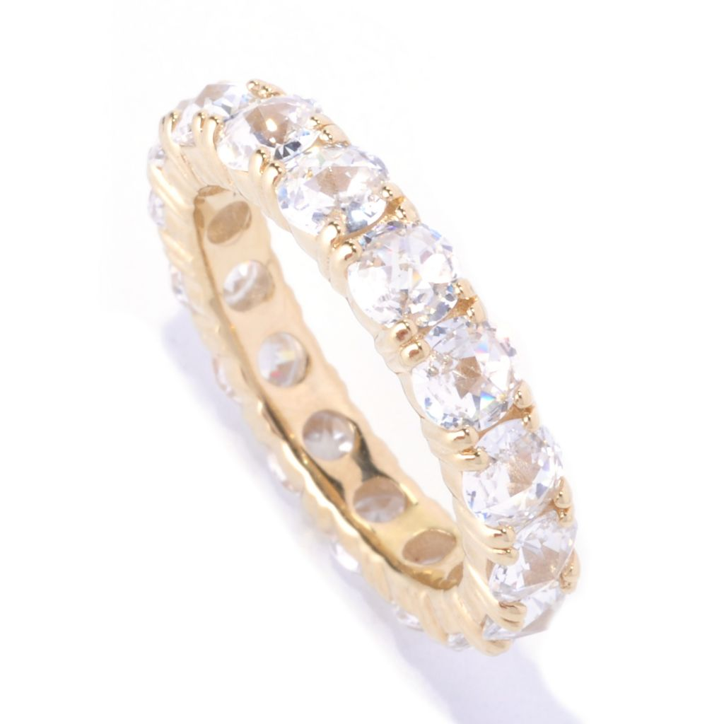 128-509 - Dare to Rare™ by Lucy 3.75 DEW Round Rose Cut Simulated Diamond Eternity Band Ring