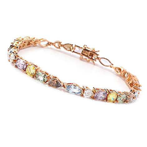 128-516 - Dare to Rare™ by Lucy Gold Embraced™ Multi Color Line Bracelet