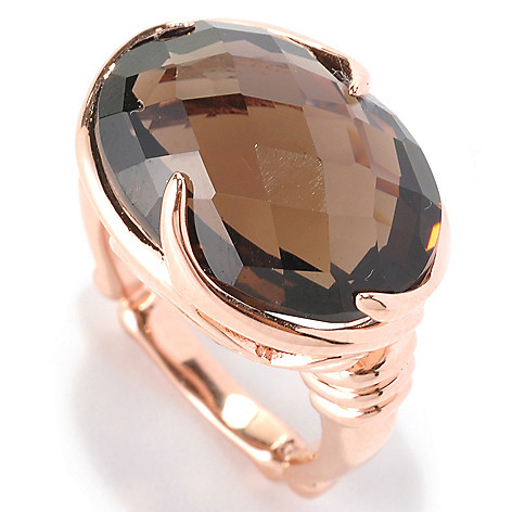 128-581 - Dallas Prince Designs 15.91ctw Oval Smoky Quartz Ring