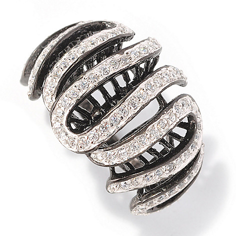 128-613 - Sonia Bitton 1.07 DEW Round Cut Simulated Diamond Swirl Ring