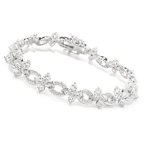 128-643 - RITANI™ Platinum Embraced™ Round Cut Simulated Diamond Link Bracelet