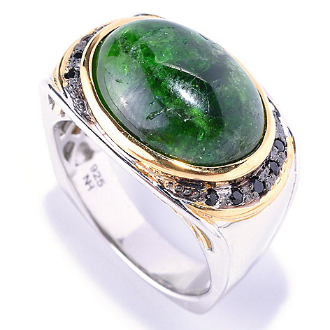 128-657 - Men's en Vogue II 18 x 13mm Chrome Diopside & Black Spinel Ring